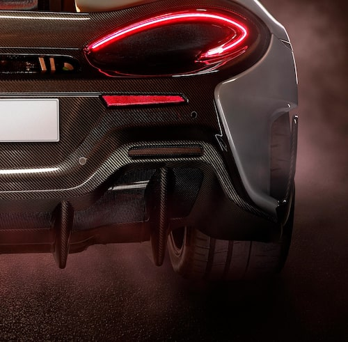 Här är det första smakprovet på McLarens nya bilmodell.