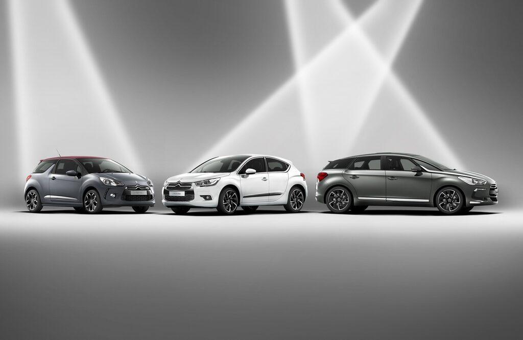 Från vänster: Citroën DS3, DS4 och DS5.