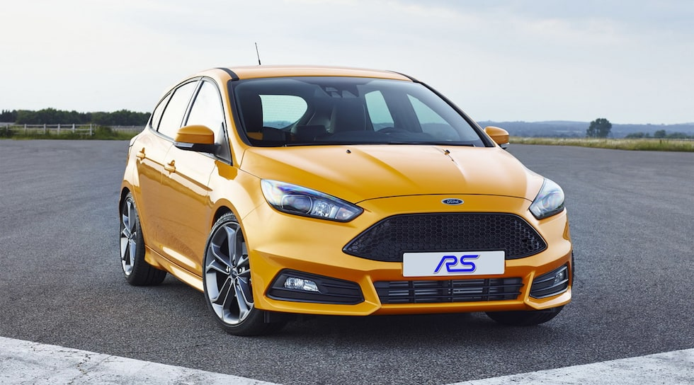 Ford Focus ST med RS-skylt