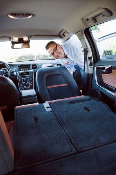 Trots sportig look har inte Volvo glömt bort funktionen. Dryga 2,5 meter lastyta med fällt framsäte.