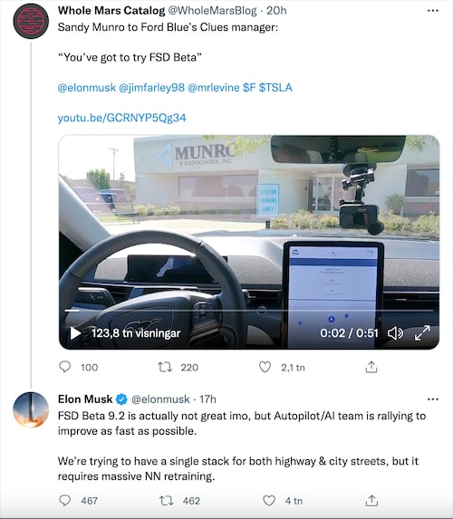 Elon Musk är inte nöjd med den senaste uppdateringen