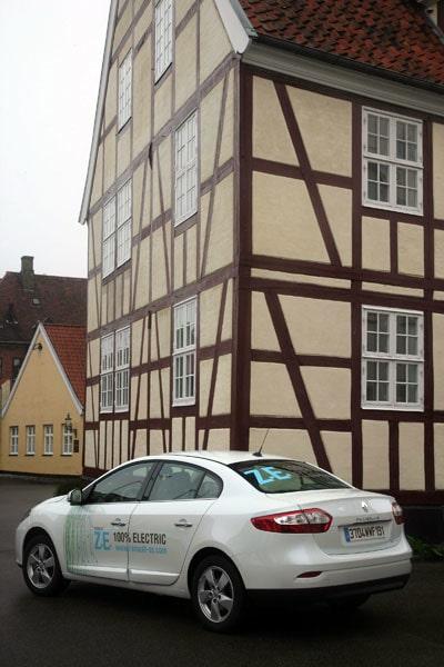 Elbilen Renault Fluence i Köpenhamn.