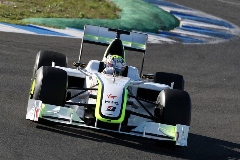 Marcus testade för Brawn GP i december 2009. Stallet blev sedemera Mercedes GP. Fotot: Grand Prix Photo