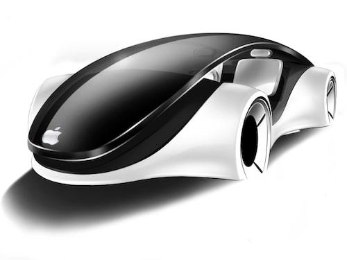 Hitte-på-skiss av Apple Car.