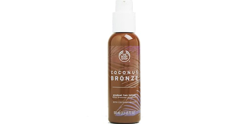The Body Shop Coconut bronze gradual tan lotion.