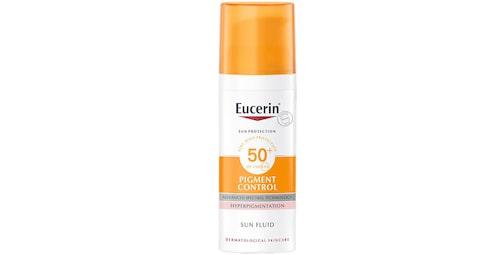 Eucerin Sun fluid pigment control SPF 50.