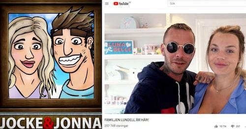 Jocke och Jonna har fler än 900 000 prenumeranter på Youtube.