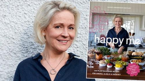 Marie Andersson Butler hälsocoach och kokboksförfattare har skrivit boken Happy me.
