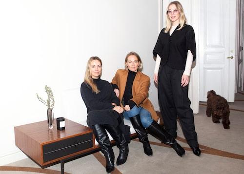 Karin Söderlind, Sofia Wallenstam och Kristina Tjäder från Dagmar i egen design