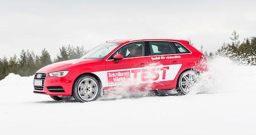Hur mycket vi än försöker så går 16-tumshjulen snabbast runt snöbanan.