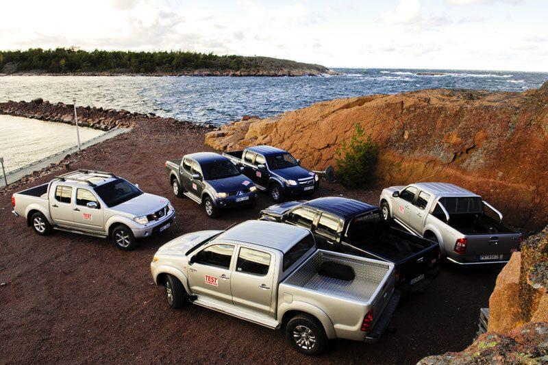 Ford Ranger, Isuzu D-Max, Mazda BT-50, Mitsubishi L200, Nissan Navara och Toyota Hilux.