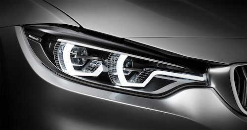 Strålkastarna blir allt mer avancerade och bjuder på bättre ljusbild, men det är inte alltid allting är frid och fröjd. Här ses BMW:s adaptiva LED-strålkastare på en 4-serie Coupé.
