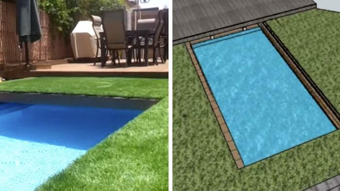pool på liten tomt