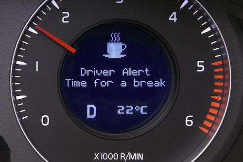 Driver Alert Control säger till att det är dags för en fikapaus.