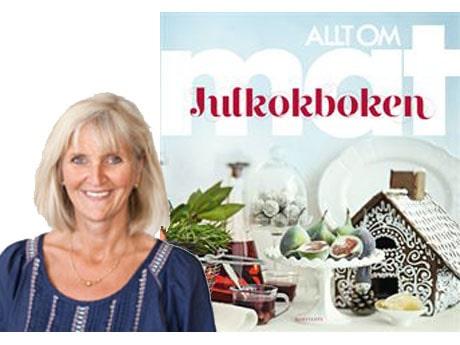 Ulla Karlström från Allt om Mat gör baconkex på scen.