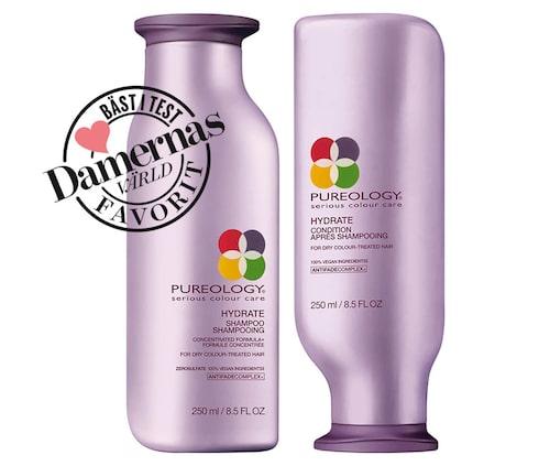 Recension och vårt omdöme om Hydrate shampoo och Hydrate conditioner, Pureology.