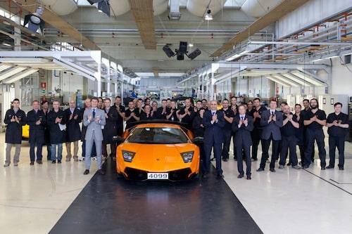 Lamborghini Murciélago, den sista. Datumet var 11 maj 2010.