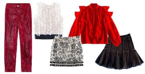 Byxor, kjolar och blusar från Giambattista Valli x H&M.