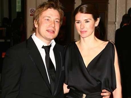 <p>Jamie Oliver och hans fru Jools.</p>