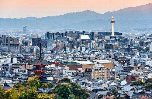 Vackra Kyoto med spännande hotell och shopping.
