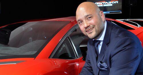 Johan Mårtensson är försäljningschef på nyöppnade Lamborghini i Arlöv utanför Malmö.