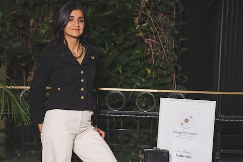 Susan Szatmáry vinnare av Damernas Värld Guldknappen Accessoar 2020