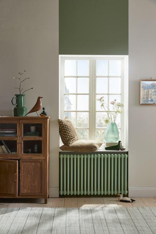 Grön färg över fönstret har NCS-kod S 3020-G 20 Y.