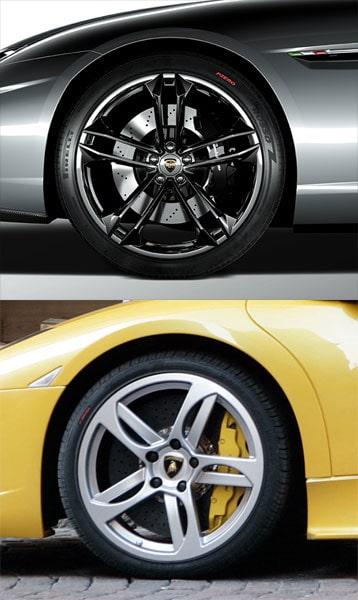 Här kan du jämföra den hemliga bilen med motsvarande detaljbild på en Murciélago.