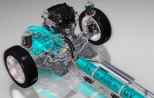 Peugeot 2008 HYbrid Air, hydraulmotor.