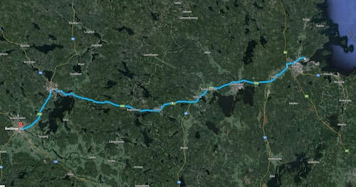I framtiden ska hela sträckan mellan Gävle och Borlänge vara elektrifierad. Bild: Google Maps.