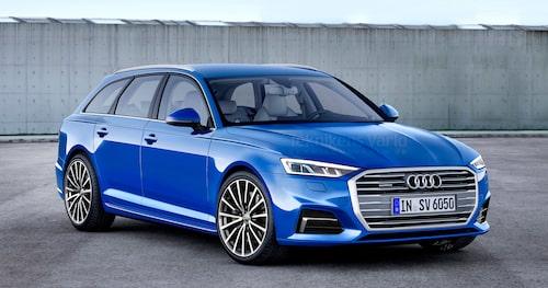 Så här föreställde vi oss nya Audi A6 Avant i september 2016.