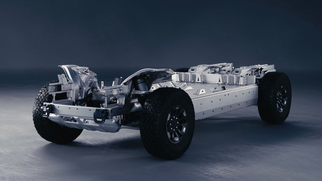 Nya GM-bilen Hummer blir eldriven och troligen med komponenter från LG och Magna.