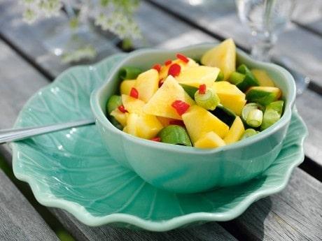 Salladslöks-, melon- och chilisalsa