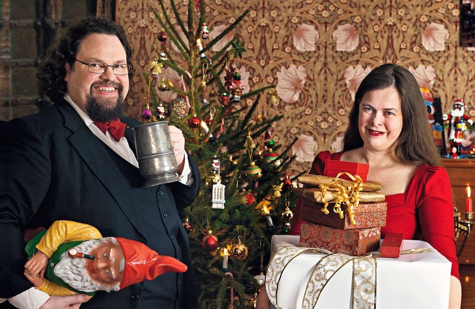 Edward Blom och hans fru Gunilla satsar stort på julfirandet.