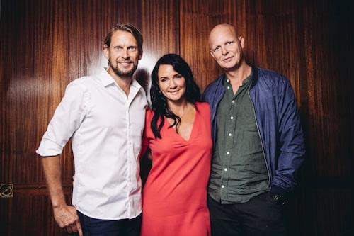 Med Mattias och Johnnie i populära Kanal 5-programmet Sofias änglar.
