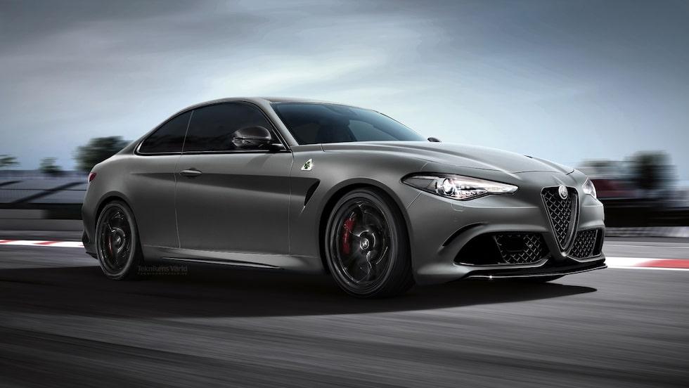 Så här föreställde vi oss en ny Alfa Romeo GTV när modellen fördes på tal för några år sedan.