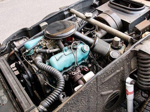 En V4-motor i Saab Sonett.