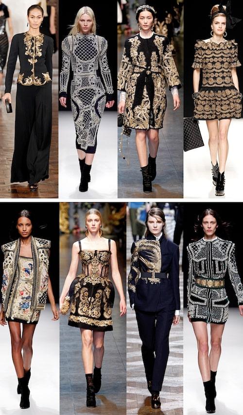 Ralph Lauren, Balmain, Dolce & Gabbana, Moschino Balmain, Dolce & Gabbana, Dries van Noten, Balmain