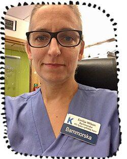 Emilija Wilson, barnmorska och forskare på Karolinska sjukhuset.