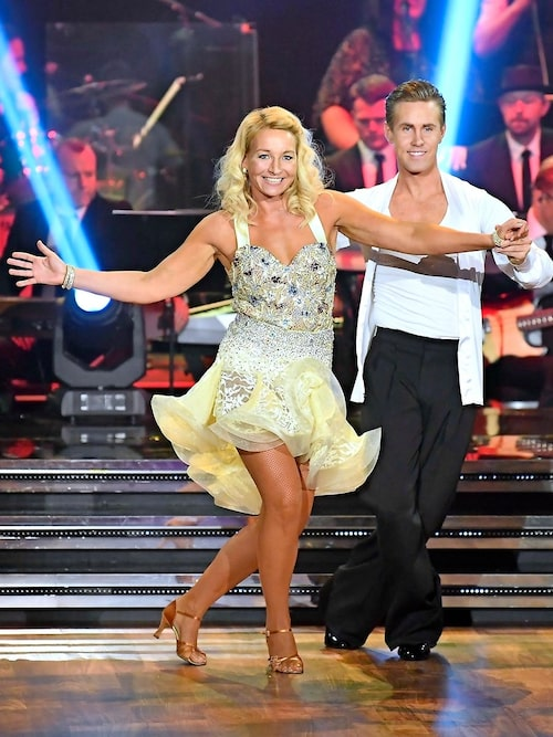 Martina och hennes danspartner Tobias Bader.