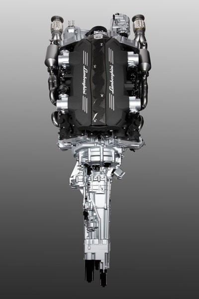 Lamborghinis nya drivlina (V12-motor + transmission).