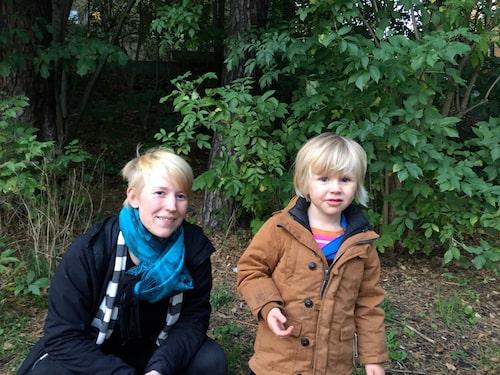 Andrea Kolk med dottern Nor.