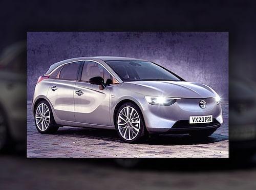 Detta sägs vara en läckt bild på kommande Opel Corsa med eldrift, eventuellt kallad eCorsa.