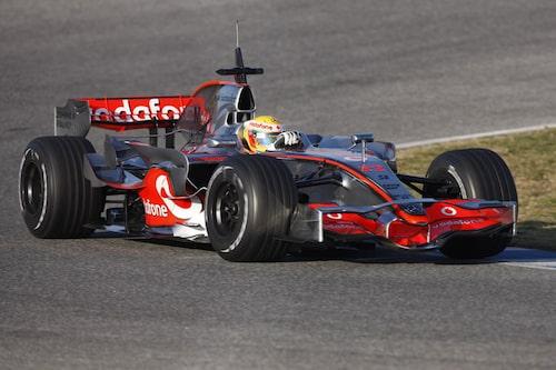 Lewis Hamiltons första test i Vodafone McLaren Mercedes MP4-23.