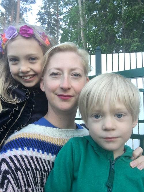 Testpatrullen bestod av Nina, Maija och Måns.