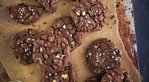 Recept på chocolate cookies.