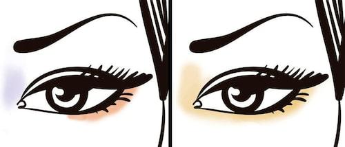 Sminka concealer kring ögat så får du en fräschare look.