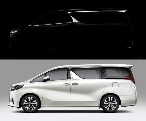 Toyota Alphard i vitt.
