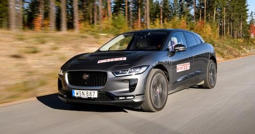 Jaguar I-Pace i test i Teknikens Värld nummer 24/2018.