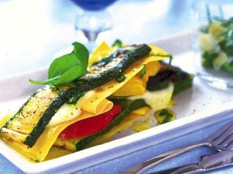 Lasagne med grillade grönsaker